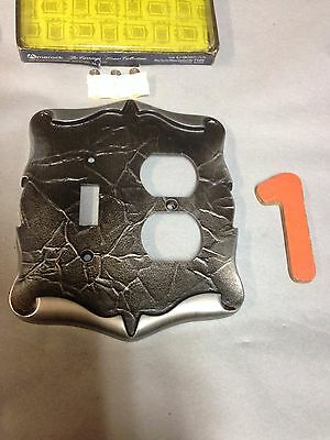 Vintage Amerock Carriage House Antique Silver Light Switch Receptacle Plate 1