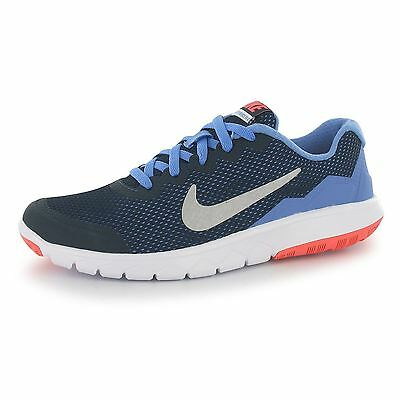 Nike Flex Experience Running Trainers Junior Girls Silv/Blk/Pnk Sports Sneakers