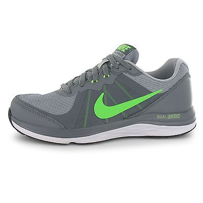 Nike Dual Fusion X Running Trainers Juniors Blk/Wht/Grey Sports Shoes Sneakers