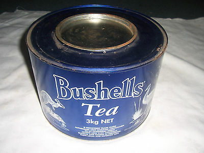 Bushells Tea 3 kg Commemorative Tin Australian Fauna-Blue/White