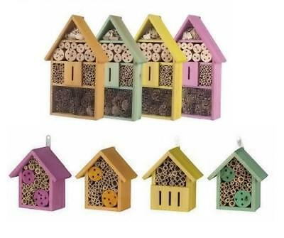 Lifetime Garden Wooden Wood Bee Insect Bug Nesting Hotel House Box Nest