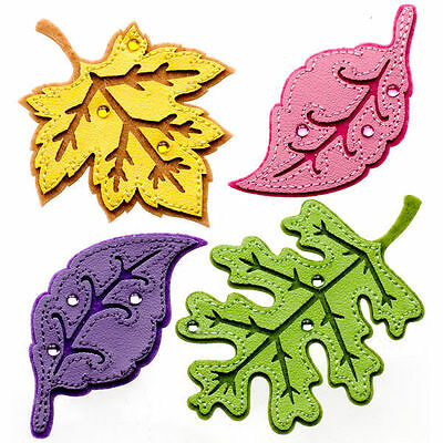 Jolee's Boutique ***STITCHED COLORFUL LEAVES*** NIEUW!!!