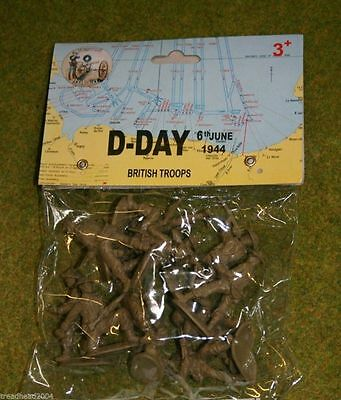 1/32 WWII D-DAY BRITISH TROOPS 54mm Weston Toy Company