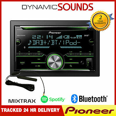 Pioneer FH-X840DAB 2-Din DAB Bluetooth Spotify CD Stereo iPhone Android + AERIAL