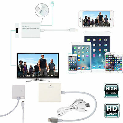 Digital Lightning to HDMI HDTV AV Cable Adapter Screen Mirroring for iPhone iPad