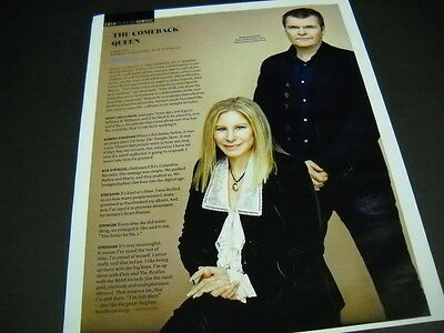 BARBRA STREISAND is The Comeback Queen detailed 2014 PROMO DISPLAY PIECE mint