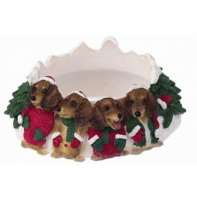 Dachshund Holiday Candle Topper Ring