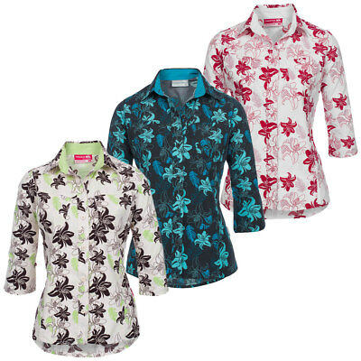TRESPASS Rio Damen Hawaiihemd Hawaii Hemd Bluse S M L XL Shirt Blume neu