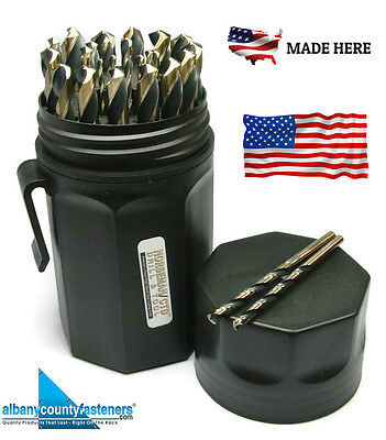 Norseman Drill Bit Set 29 Piece SP-29P Jobber Length USA Made 44170 Black