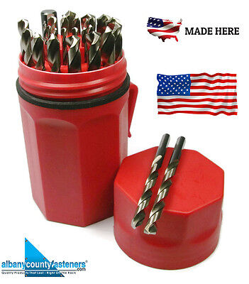 Norseman Drill Bit Set 29 Pc CN-TECH CRYO-NITRIDED Red Ultradex 47462 USA MADE