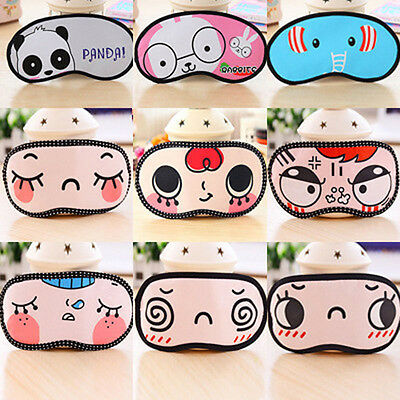 New 1 Pcs Random Sleeping Eye Mask Blindfold Shade Sleep Aid Cover Light Guide