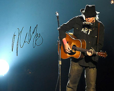 REPRINT - NEIL YOUNG 5 autographed signed photo