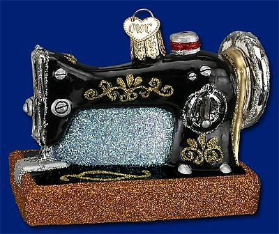 """""""Sewing Machine"""" (32103) Old World Christmas Glass Ornament"""