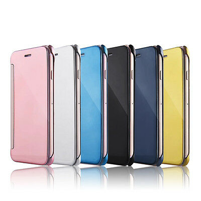 Mirror Smart Clear View Flip Hard Back Case Cover For Apple iPhone 6 6S 7 Plus