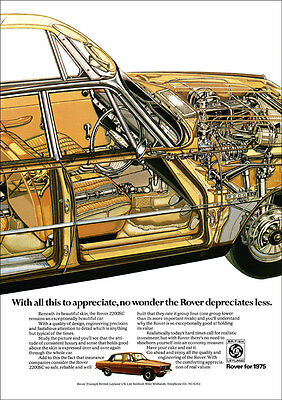 ROVER P6 2200SC 2200 RETRO A3 POSTER PRINT FROM CLASSIC 70's ADVERT