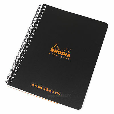 Rhodia Spiral Black A5 dotPad Dot Architects Graphic Grid Art Note Book Pad