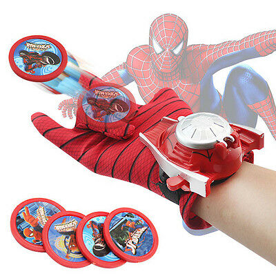 Spider-Man Launchers Gloves Marvel Superhero Cosplay Costume Kids Toy Gift Xmas