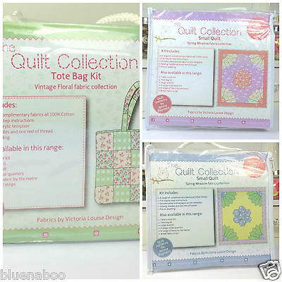 Quilt collection 100% cotton quilting kits choice of tote bag or small quilts