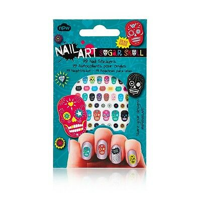 Sugar Skull Nail Stickers - Mexican Collectable Girly Emo Make Up Accessory