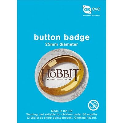 The Hobbit The Ring Button Badge - 25mm Film Official Merchandise Badges