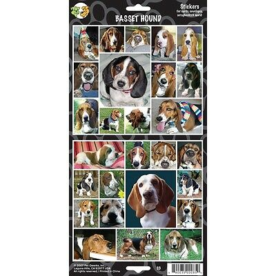 Sheet Of 27 Basset Hound Stickers - Stickersx Dog Lovers Gift Personalise