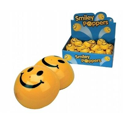 Smiley Face Popper Jumping Toy - 4cm Fun Novelty Gift Party Bag Stocking Filler