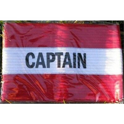 Junior Size Red Captain's Armband - Captains Football Rugby Hockey Big Styles