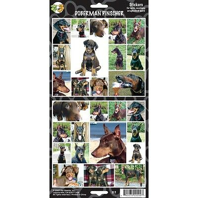 Sheet Of 27 Doberman Pinscher Stickers - Dog Lovers Gift Personalise Decorate