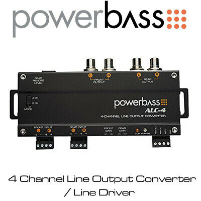 Powerbass ALC-4 - 4/2 Channel Line Output Converter / High to Low Level Adaptor