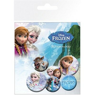 Disney Frozen Mix Badge Pack - Badges Official Film Merchandise Accessory Gift