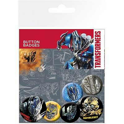 Transformers 4 Age Of Extinction Badge Pack - Assorted Sizes Pin Badges The Film