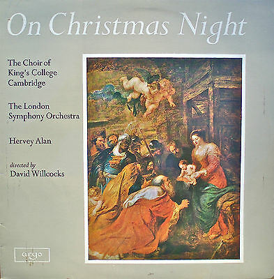 KING'S COLLEGE CHOIR/LSO: On Christmas Night ZRG5333 STEREO ℗1962 VG++!!