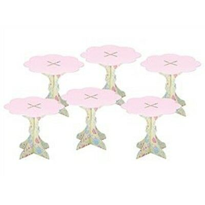 Mini Pack Of 6 Sweetly Does It Paper Cupcake Stands - Individual Pastel