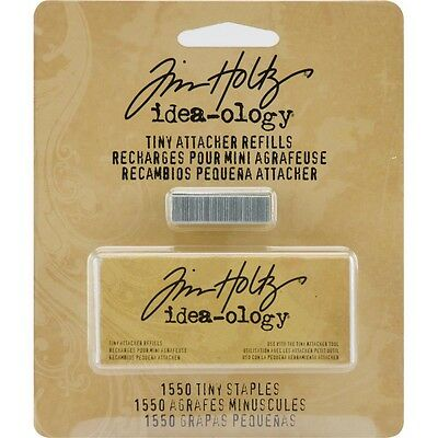 "Pack Of 1550 Idea-ology Tiny Attacher Refill Staples - Tim Holtz 0.25"" Packet"