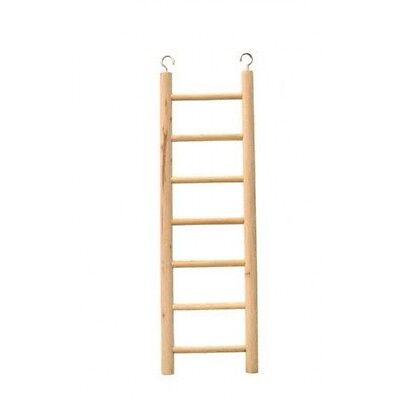 7 Step Wooden Ladder For Bird Cages - Pet Toy Budgie Canary Cage Accessory