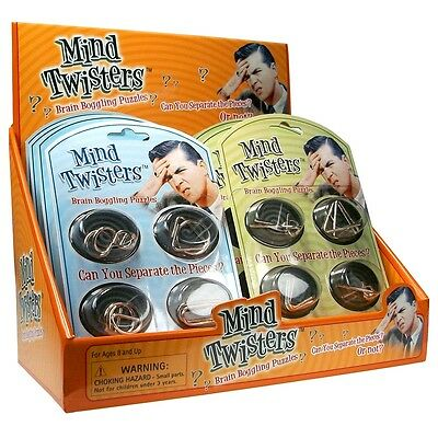 Mind Twisting Puzzles - Twisters Metal Wire Brain Teaser Scientific Game Toy