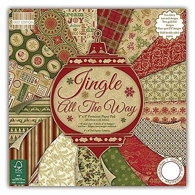 First Edition Premium Paper Pad 8-inch x 8-inch 4 Jingle All The Way FEPAD096X15