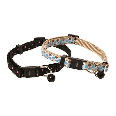 Polka Dot Safety Cat Collar Assorted Colours - Circus Fashionable Pet Accessory