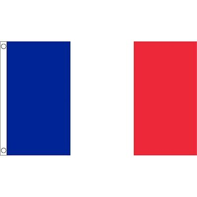 3ft x 2ft Small France Flag - French 3 2 Eyelets Premium Quality