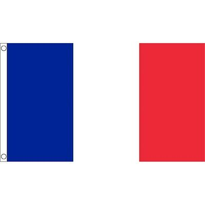 3ft x 2ft Small France Flag - French 3ft National Country Metal Eyelets