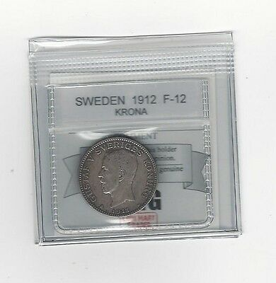 **1912** Sweden, Krona, Coin Mart Graded**F-12**