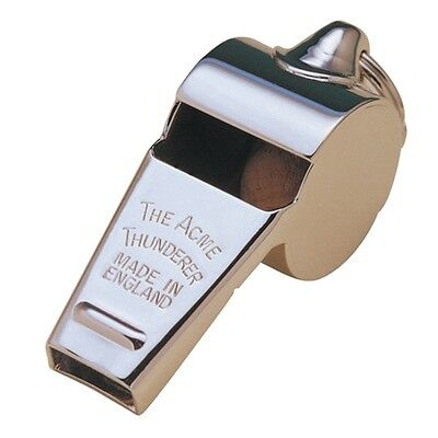 Large Acme Thunderer High Pitch Metal Whistle - 58 1 2 Football Coach Whistles