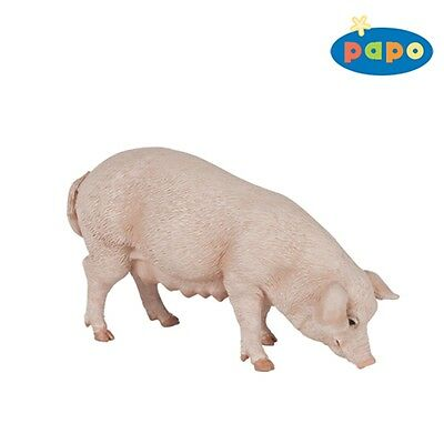 Papo Sow Pig Animal Figurine - Farm Yard Animals Fantasy Action Figure Model