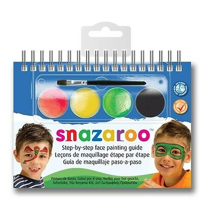 Snazaroo Face Paint A6 Booklet With 2-step Guide, Monsters - Boys