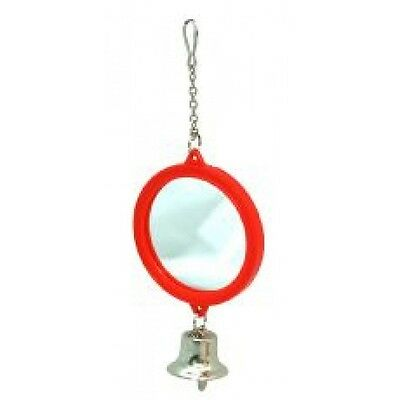 Small Double Sided Mirror And Bell On Chain Bird Toy - Cage Accessory Stimulati