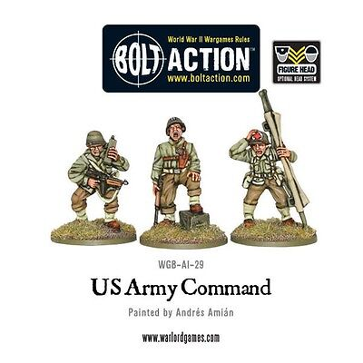 Us Command Military Miniatures - Warlord Games Bolt Action World War 2 Army Hq