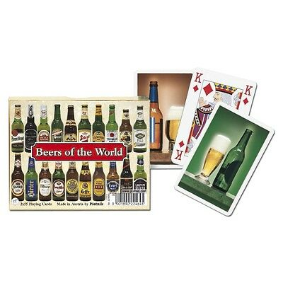 Piatnik Beers Of The World Playing Cards (double Deck) - Card Game Pack Family