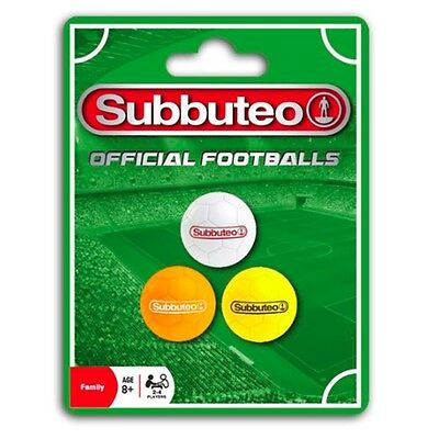 Subbuteo Football Balls Set - White, Orange And Yellow Official For Table Soccer