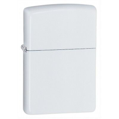 Regular White Matte Zippo Lighter - Small Pocket Gift Present Smokers Accessory