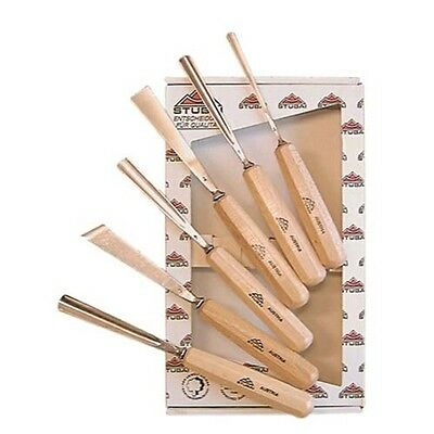 Stubai 6 Piece 55 Series Premium Carving Set 560206 Carving Chisel